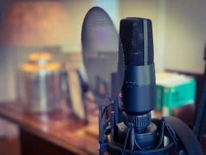 Podcast apparatuur studio