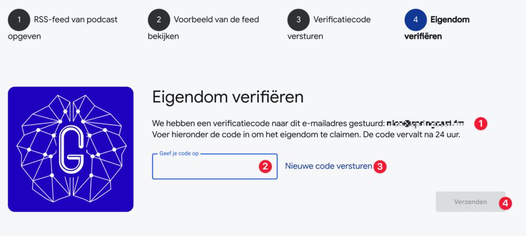 Verificatiecode invoeren