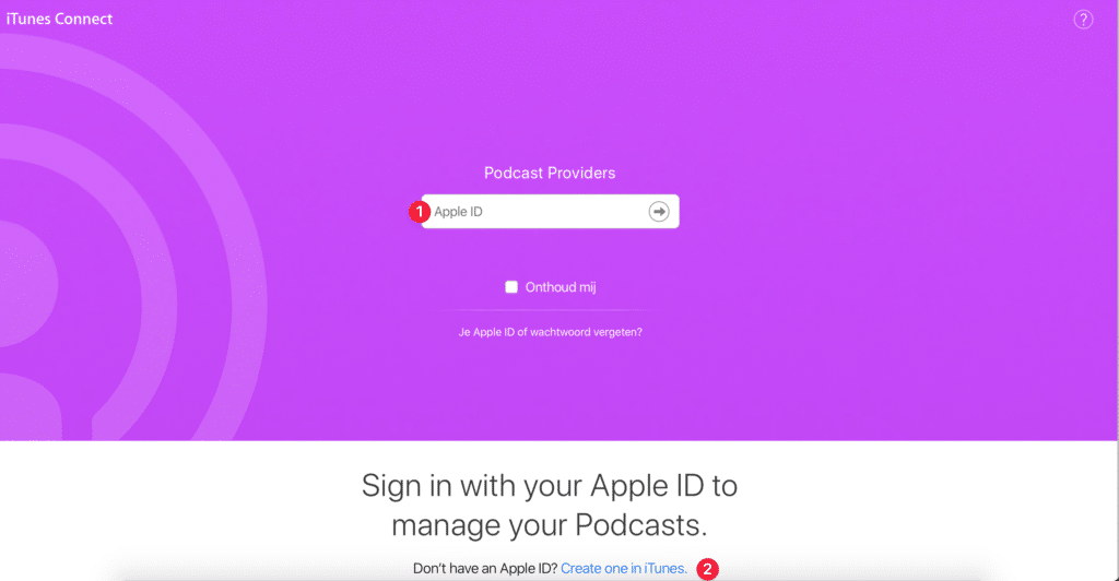 Apple Podcast iTunes connect