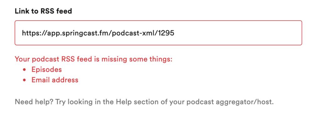 Springcast RSS feed