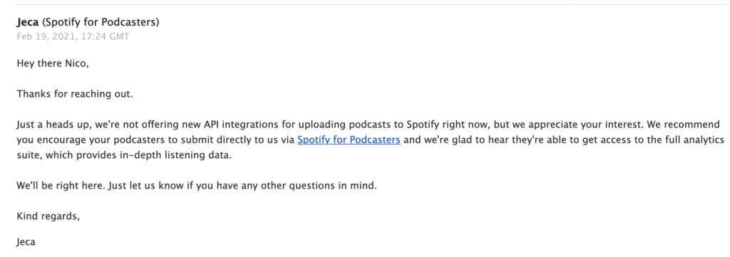 Spotify podcast analytics