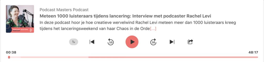 Podcast Mirjam Hegger