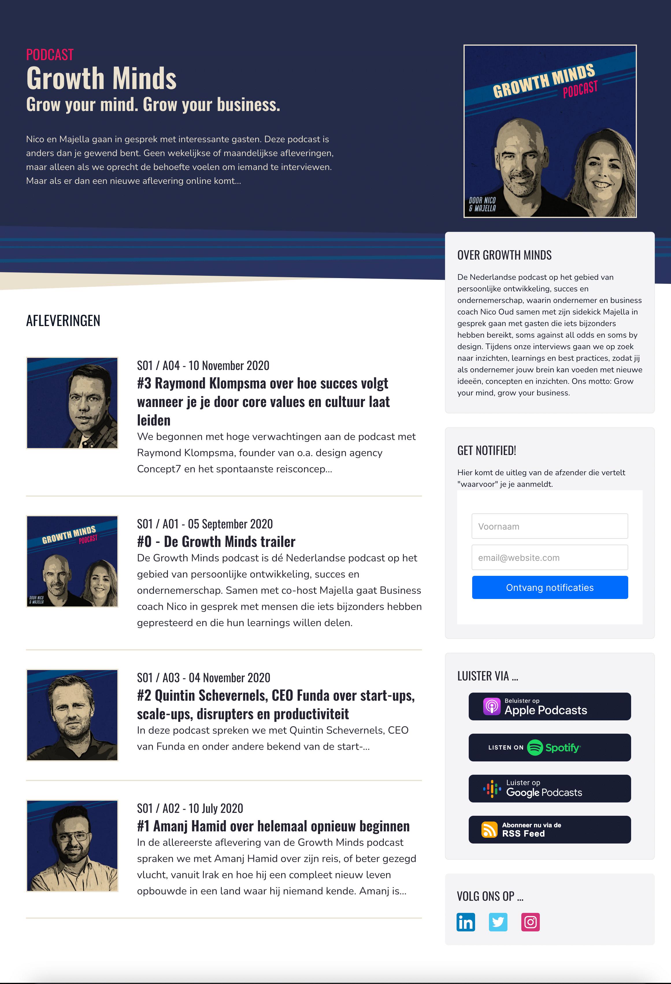 Podcast website nieuw